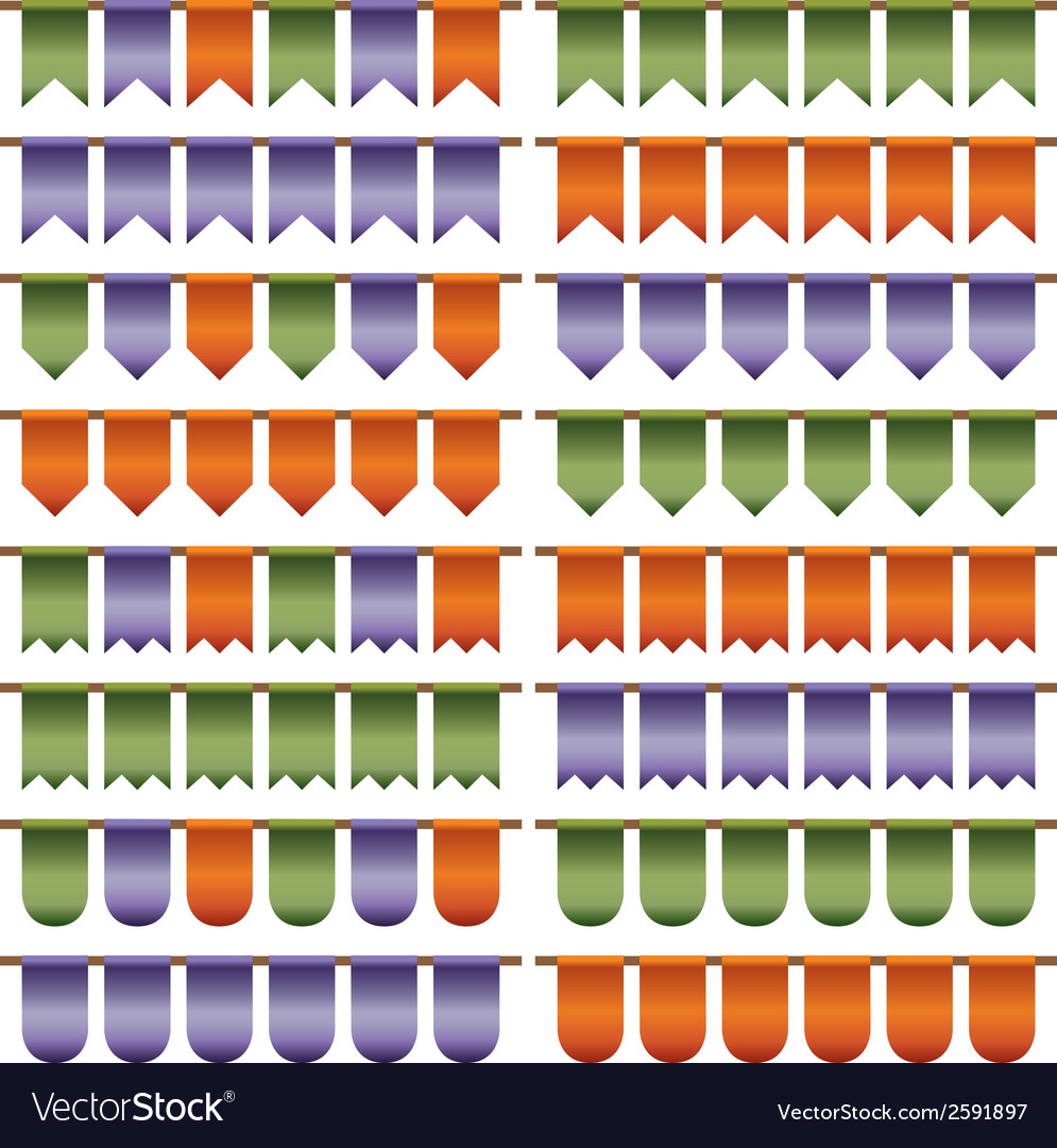 Green purple orange bunting vector | Price: 1 Credit (USD $1)