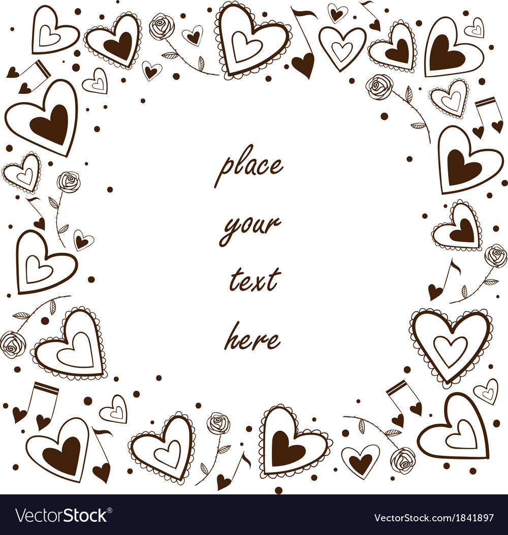 Hearts frame greeting card concept vector | Price: 1 Credit (USD $1)