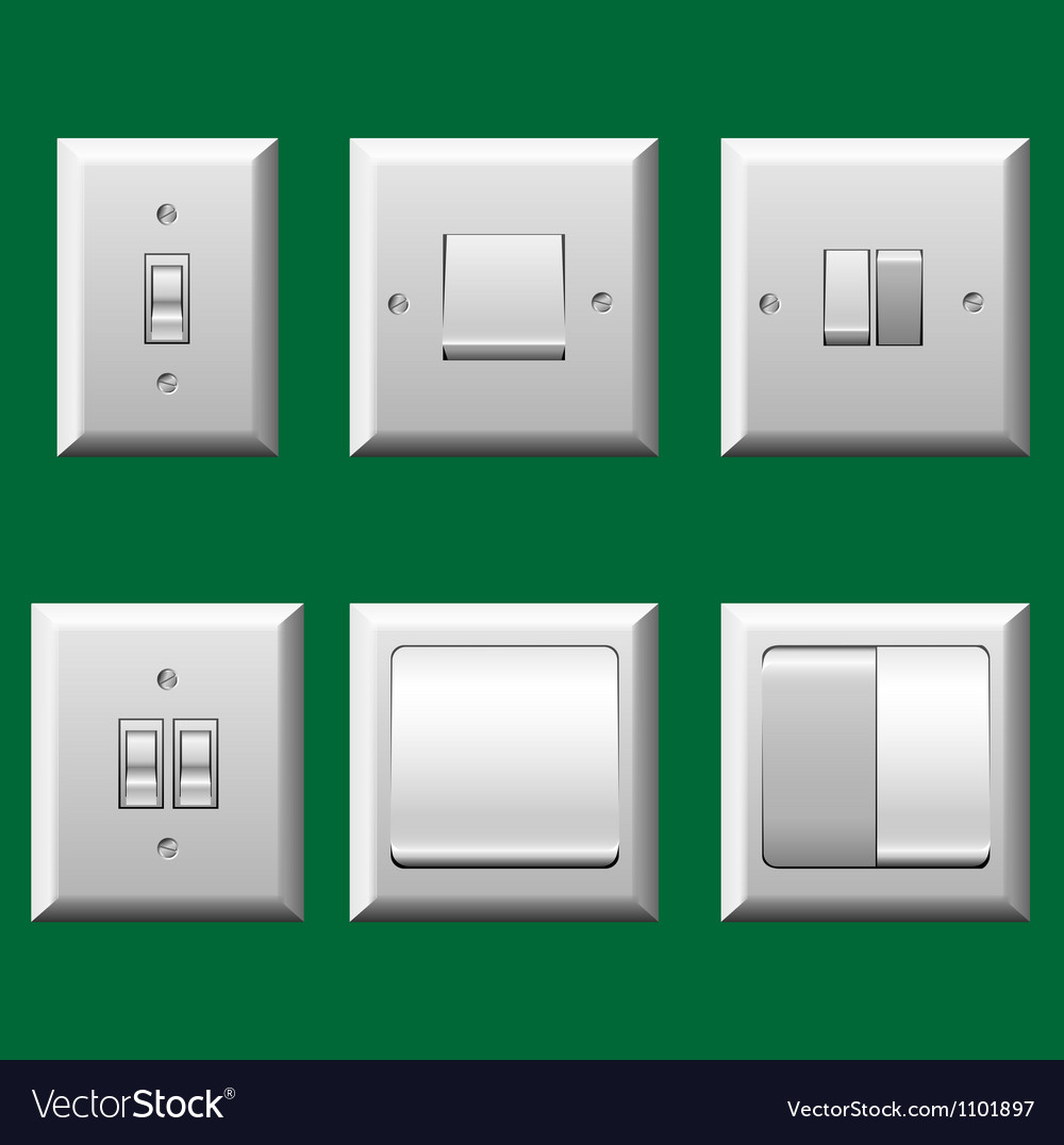 Light switch set vector | Price: 1 Credit (USD $1)