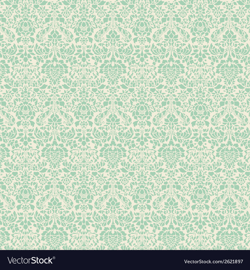 Mint damask vector | Price: 1 Credit (USD $1)