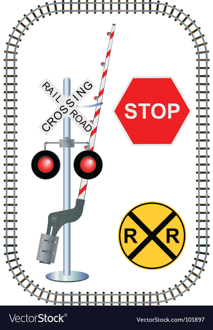 Rail road vector | Price: 1 Credit (USD $1)