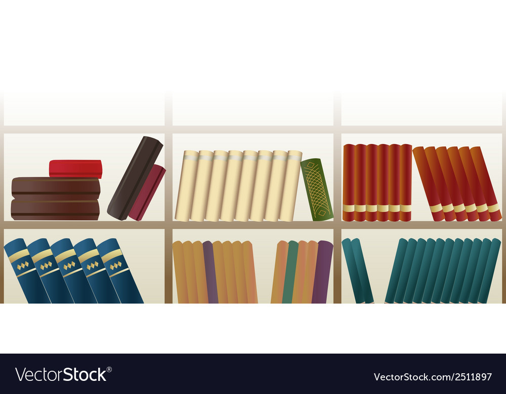 Retro bookshelf pattern vector | Price: 1 Credit (USD $1)