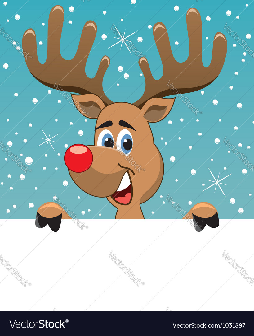 Rudolph deer vector | Price: 3 Credit (USD $3)