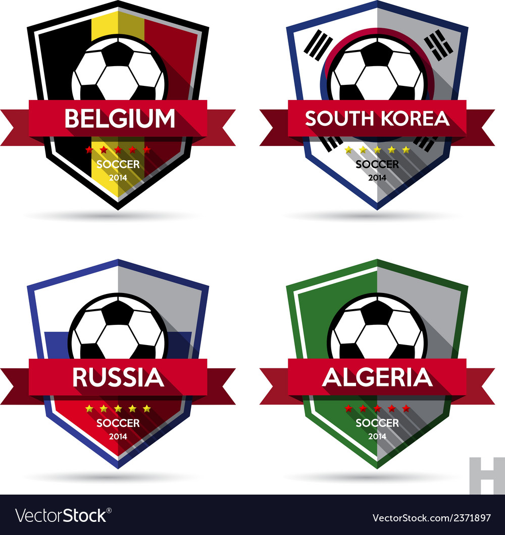 Set of soccer football badge vector | Price: 1 Credit (USD $1)