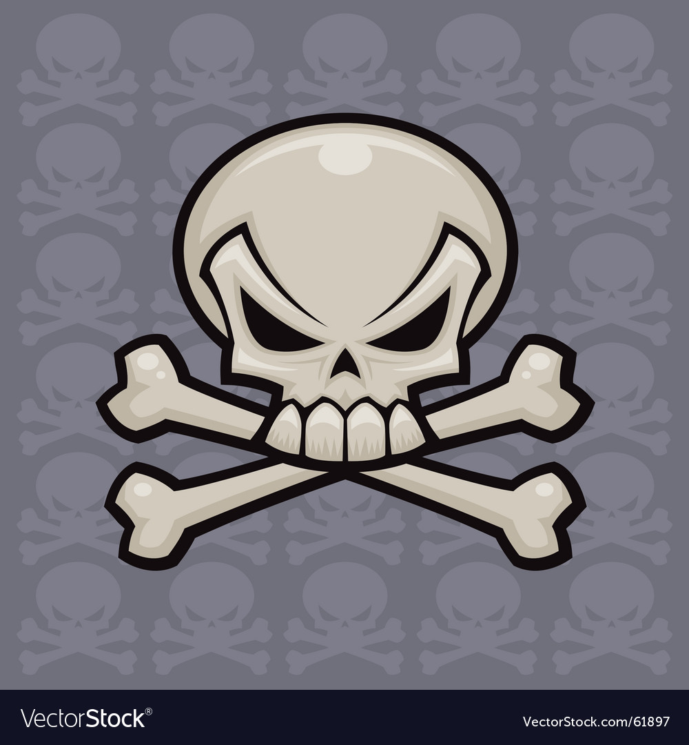 Skull and crossbones vector | Price: 1 Credit (USD $1)