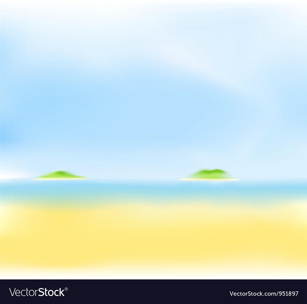 Summer sea island vector   Price: 1 Credit (USD $1)