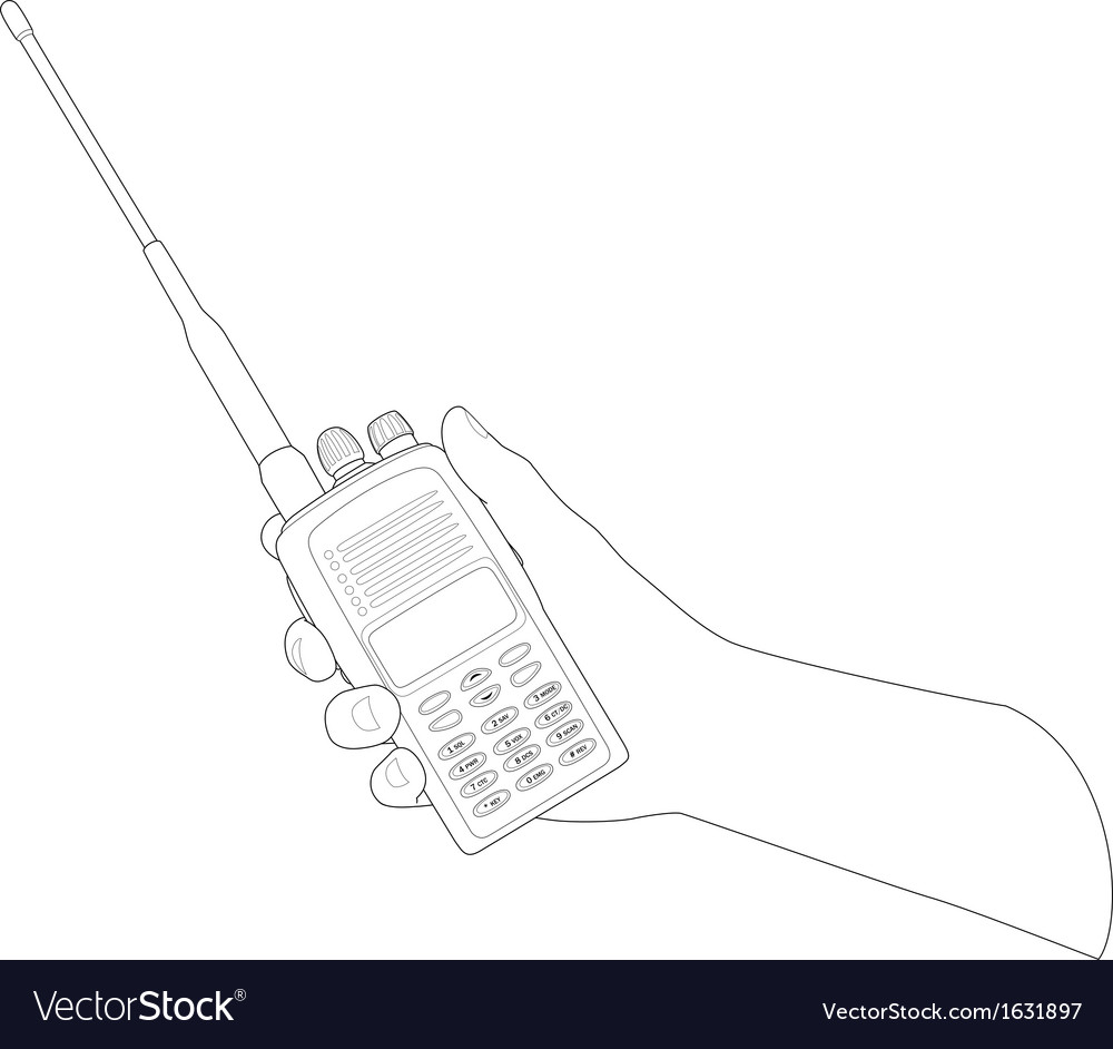 Walkie talkie vector | Price: 1 Credit (USD $1)