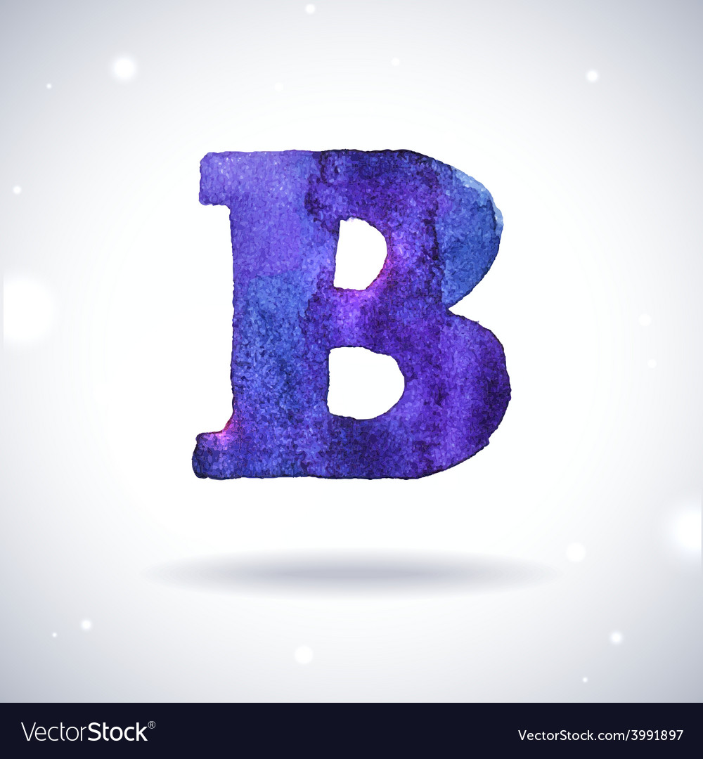 Watercolor letter b vector | Price: 1 Credit (USD $1)