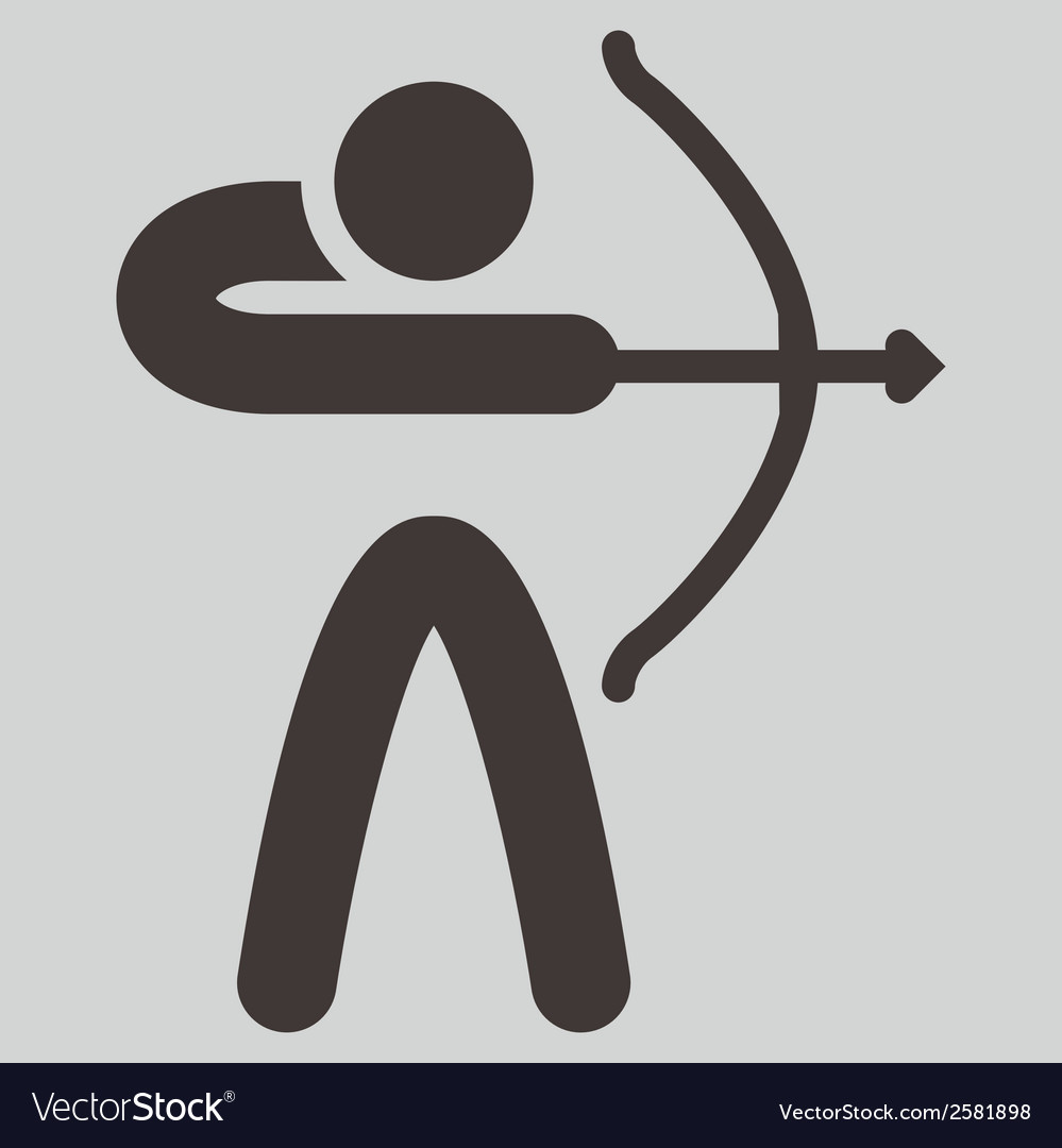 2269 archery icon vector | Price: 1 Credit (USD $1)