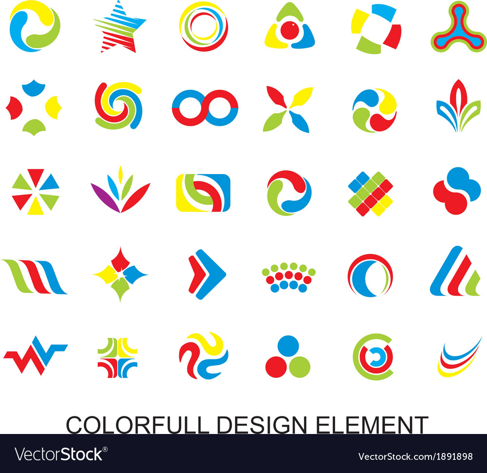 Colorfull design element vector | Price: 1 Credit (USD $1)