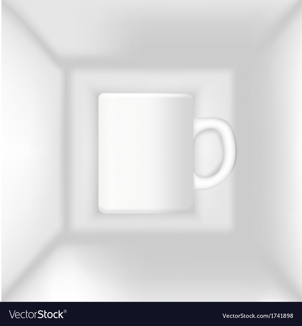 Cup in the box vector | Price: 1 Credit (USD $1)