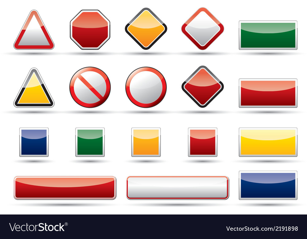 Danger traffic board icon elements vector | Price: 1 Credit (USD $1)