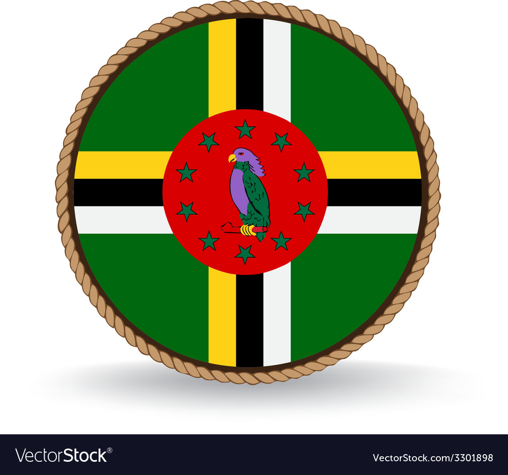 Dominica seal vector | Price: 1 Credit (USD $1)
