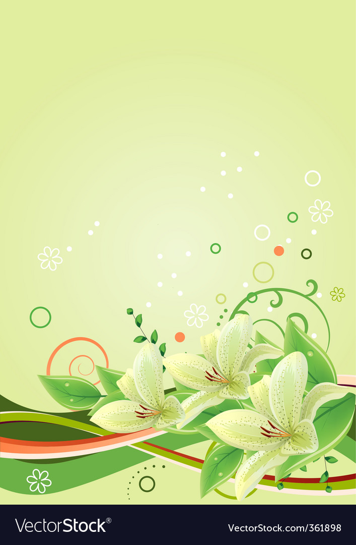 Frame with lilies vector | Price: 1 Credit (USD $1)