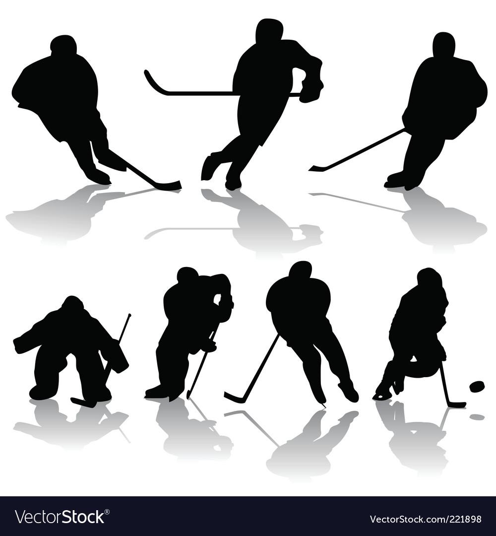 Ice hockey players vector | Price: 1 Credit (USD $1)