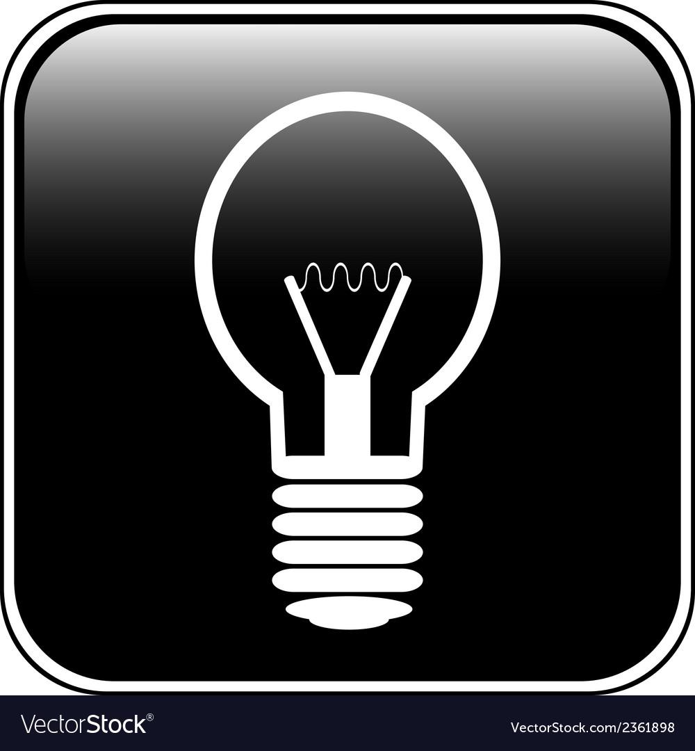 Light bulb button vector   Price: 1 Credit (USD $1)