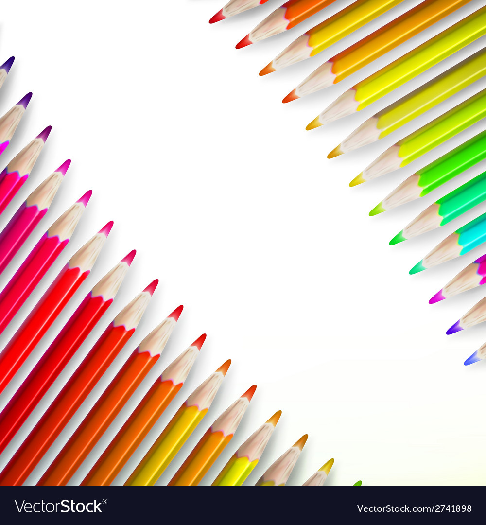 Multicolored pensils isolated plus eps10 vector | Price: 1 Credit (USD $1)