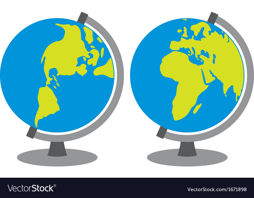 School globe vector | Price: 1 Credit (USD $1)