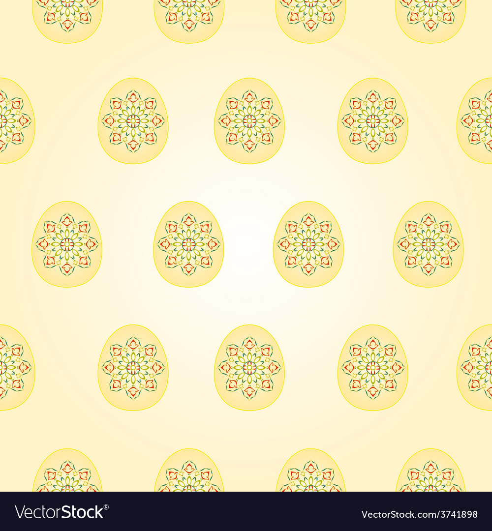 Seamless texture easter eggs vintage vector | Price: 1 Credit (USD $1)