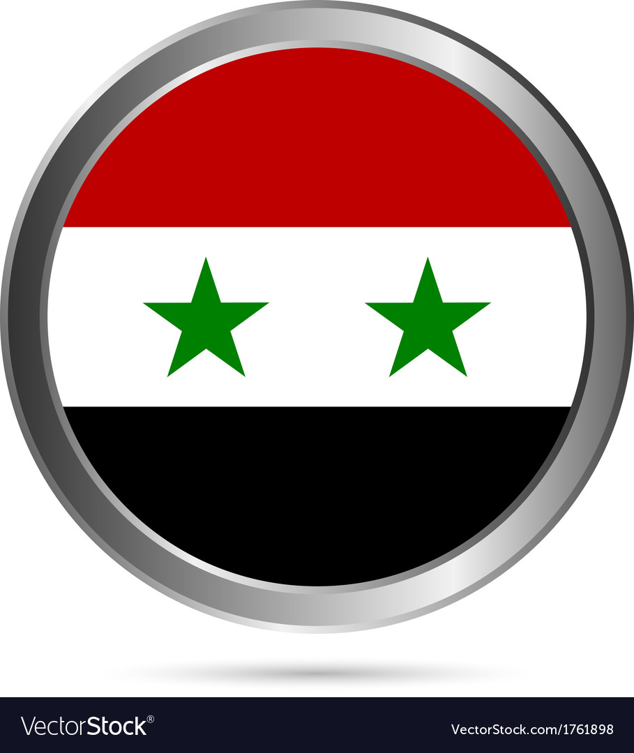 Syria flag button vector | Price: 1 Credit (USD $1)