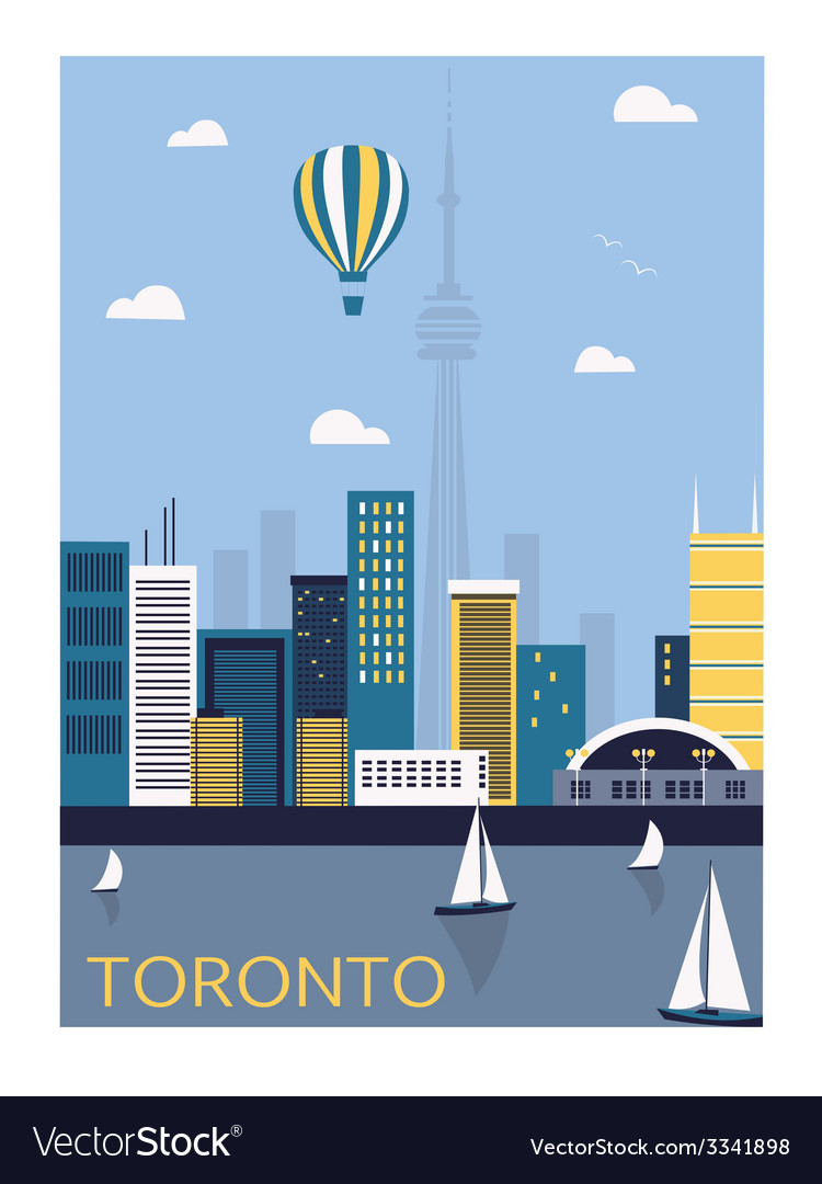 Toronto city canada vector | Price: 1 Credit (USD $1)