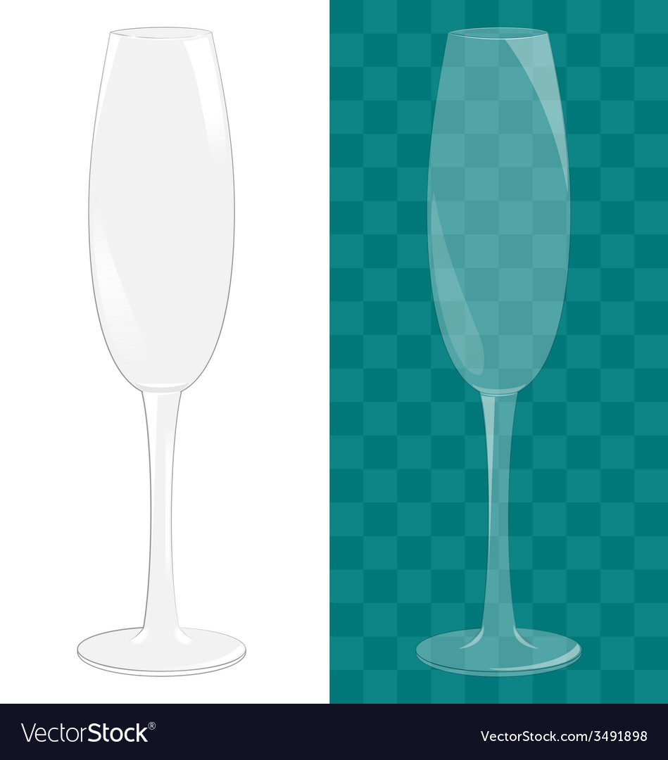 Transparent isolated sparkling wine glass vector | Price: 1 Credit (USD $1)