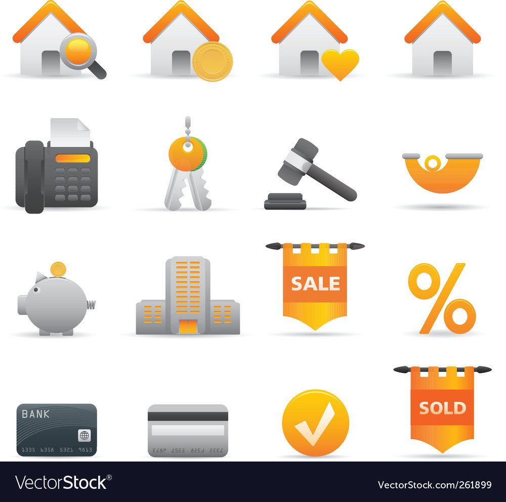12 yellow real state icons vector   Price: 1 Credit (USD $1)