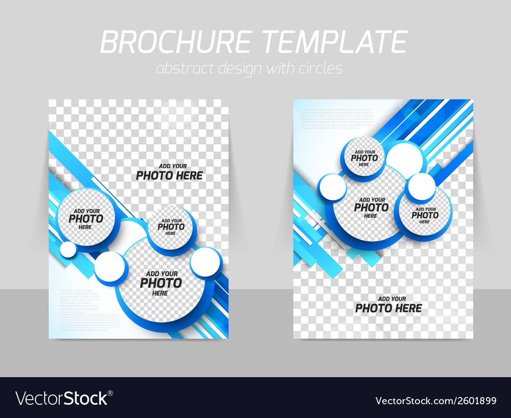 Blue brochure with circles vector | Price: 1 Credit (USD $1)