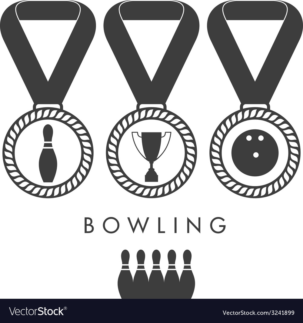 Bowling trophy vector | Price: 1 Credit (USD $1)