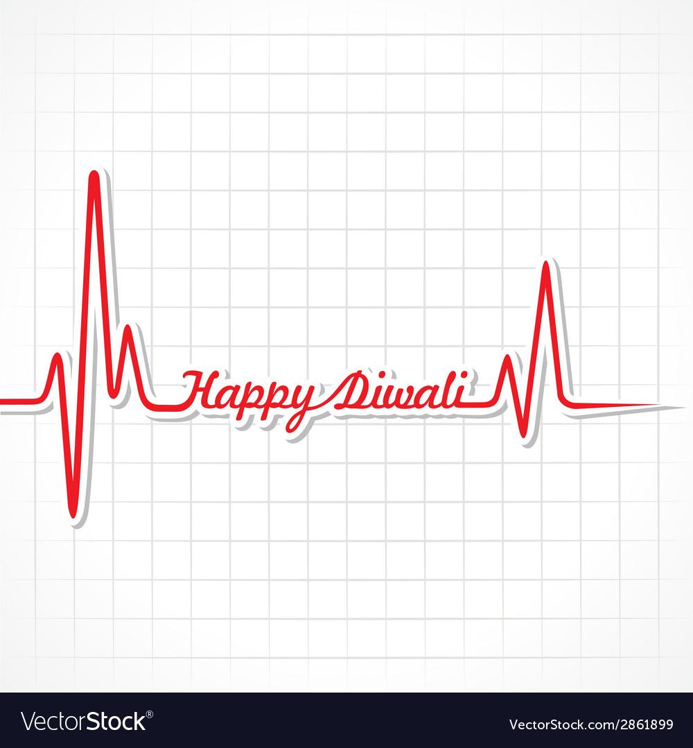 Diwali greeting background vector | Price: 1 Credit (USD $1)