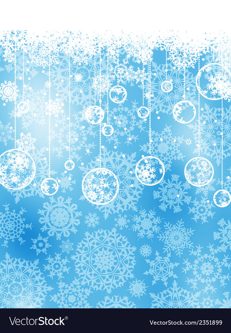 Elegant christmas background with baubles eps 8 vector | Price: 1 Credit (USD $1)