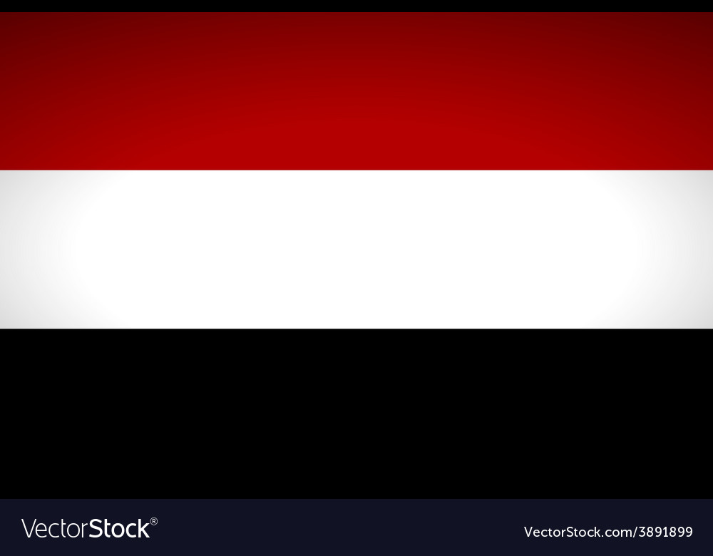 Flag of yemen vector | Price: 1 Credit (USD $1)