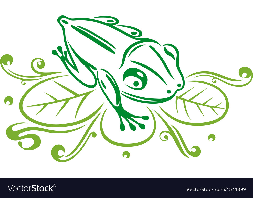 Frog reed green vector   Price: 1 Credit (USD $1)