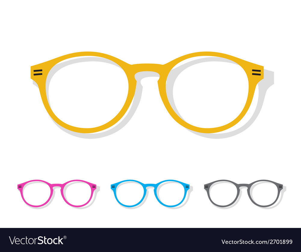 Image of glasses orange vector | Price: 1 Credit (USD $1)