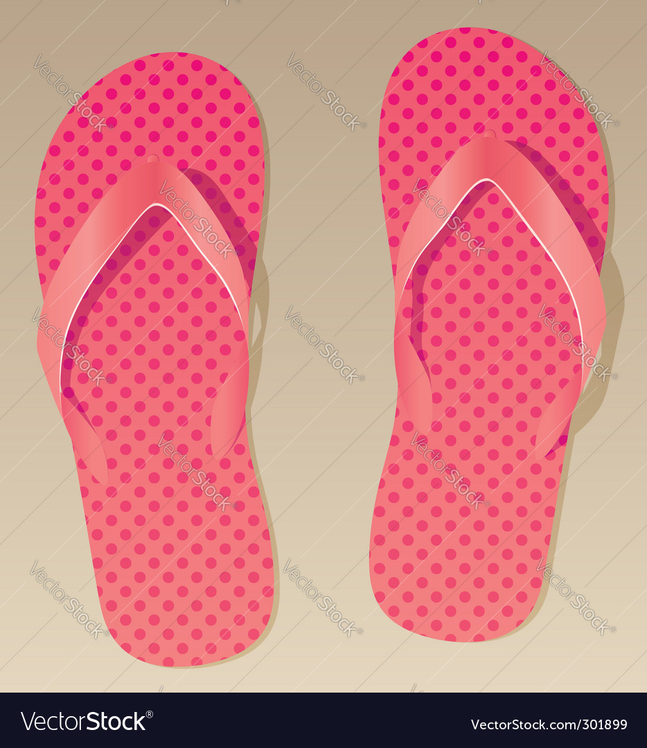 Pink flip flops vector | Price: 1 Credit (USD $1)