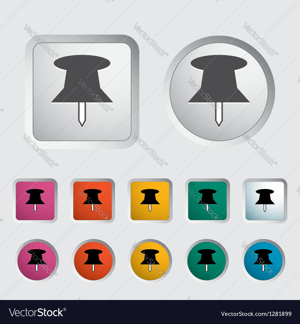 Push pin icon vector | Price: 1 Credit (USD $1)