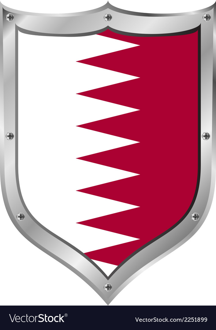 Qatar flag button vector | Price: 1 Credit (USD $1)