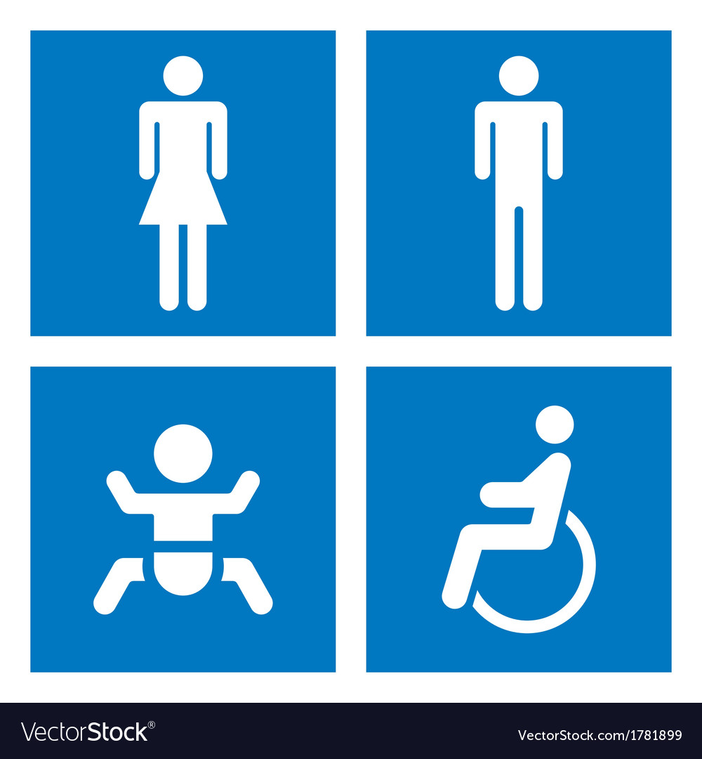 Toilet signs vector | Price: 1 Credit (USD $1)