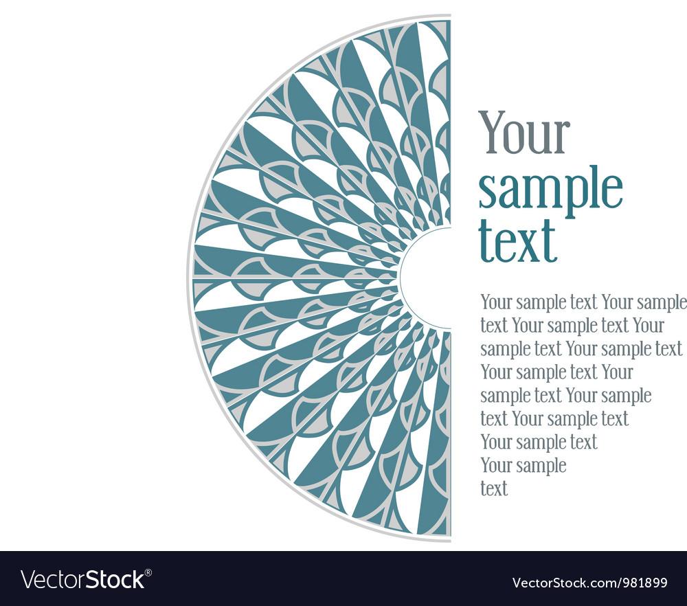 Vintage design blue pattern vector | Price: 1 Credit (USD $1)