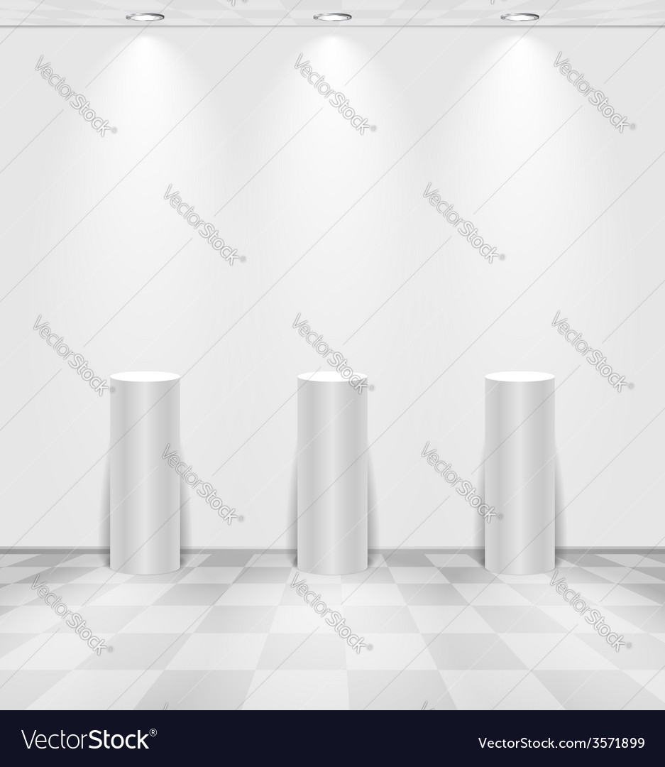 White room with stands vector | Price: 1 Credit (USD $1)