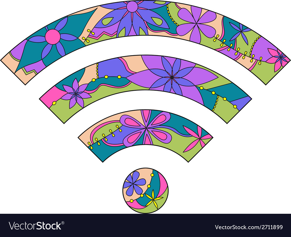 Wi fi sign vector | Price: 1 Credit (USD $1)