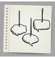 Blank doodle speech bubbles vector