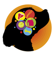 Dog brain vector