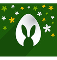 Easter egg bunny ears vector