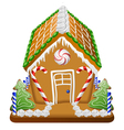Gingerbread house with candies vector