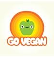 Go vegan apple vector