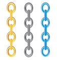 Chain from metal vector