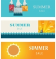 Summer sale  vintage bannerscards vector