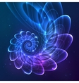 Blue abstract fractal cosmic spiral vector