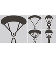 Parachute sport icons vector